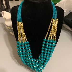 Handmade in India Beautiful Green & Gold Necklace